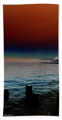 Night Winds And Waves Beach Towel