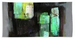 Texture Of Night Painting Beach Towel by Behzad Sohrabi