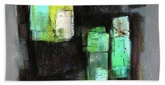 Texture Of Night Painting Beach Sheet
