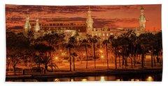 Nightfall In Tampa Beach Towel