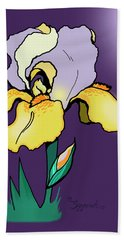 Nighttime Iris Beach Towel