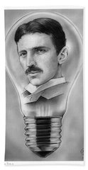 Nikola Tesla Beach Towel