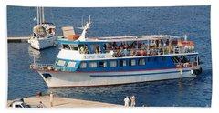 Nikos Express Ferry At Halki Beach Sheet