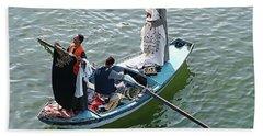 Nile River Garment Vendors - Egypt Beach Towel