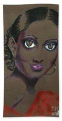 Nina Mae -- African-american Actress Portrait Beach Sheet