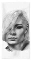 Nina Nesbitt Drawing By Sofia Furniel Beach Towel