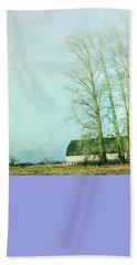 Beach Sheet featuring the photograph Nisqually Barns by Jean OKeeffe Macro Abundance Art