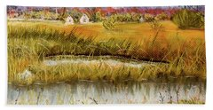 Nisqually In Fall - Landscape Beach Sheet by Barry Jones