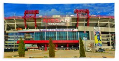 Nissan Stadium Home Of The Tennessee Titans Beach Towel