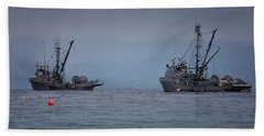 Beach Towel featuring the photograph Nita Dawn And Cape George by Randy Hall