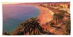 Nizza By The Sea Beach Towel