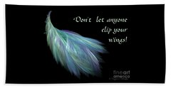 Wings Beach Towel by Suzanne Schaefer