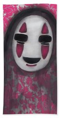 No Face  Beach Towel by Abril Andrade Griffith