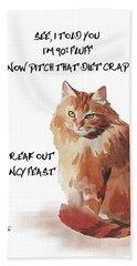 No Fat Cat Beach Sheet