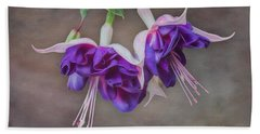 Purple Fuchsia Beach Towel