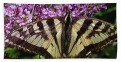 Beach Sheet featuring the photograph No Tail Swallowtail by Adria Trail