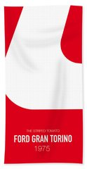 No003 My Starsky And Hutch Minimal Movie Car Poster Beach Towel