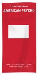 No005 My American Psyhco Minimal Movie Poster Beach Towel
