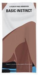 No007 My Basic Instinct Minimal Movie Poster Beach Towel by Chungkong Art