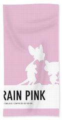 No01 My Minimal Color Code Poster Pinky And The Brain Beach Towel by Chungkong Art
