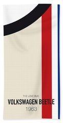 No014 My Herbie Minimal Movie Car Poster Beach Towel