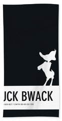 No03 My Minimal Color Code Poster Daffy Duck Beach Towel