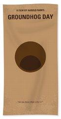 No031 My Groundhog Minimal Movie Poster Beach Towel by Chungkong Art