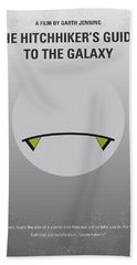 No035 My Hitchhiker Guide Minimal Movie Poster Beach Towel