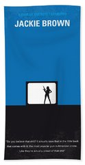 No044 My Jackie Brown Minimal Movie Poster Beach Towel