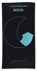 No053 My Moon 2009 Minimal Movie Poster Beach Towel by Chungkong Art