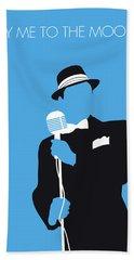 No059 My Sinatra Minimal Music Poster Beach Towel