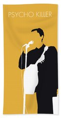 No064 My Talking Heads Minimal Music Poster Beach Towel