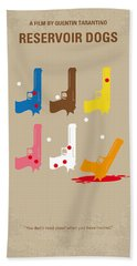 No069 My Reservoir Dogs Minimal Movie Poster Beach Sheet