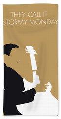 No070 My Tbone Walker Minimal Music Poster Beach Towel