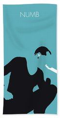 No085 My Linking Park Minimal Music Poster Beach Towel