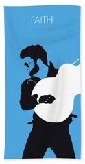 No089 My George Michael Minimal Music Poster Beach Towel