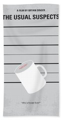 No095 My The Usual Suspects Minimal Movie Poster Beach Towel