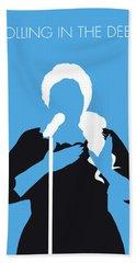 No099 My Adele Minimal Music Poster Beach Towel
