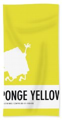 No10 My Minimal Color Code Poster Spongebob Beach Towel