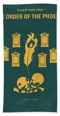 No101-5 My Hp - Order Of The Phoenix Minimal Movie Poster Beach Towel