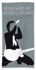 No117 My Green Day Minimal Music Poster Beach Towel