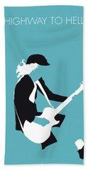 No125 My Acdc Minimal Music Poster Beach Towel