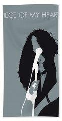 No127 My Janis Joplin Minimal Music Poster Beach Towel