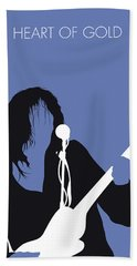 No128 My Neil Young Minimal Music Poster Beach Towel