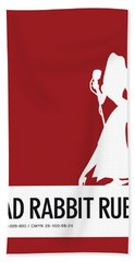 No14 My Minimal Color Code Poster Jessica Rabbit Beach Towel