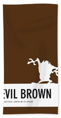 No16 My Minimal Color Code Poster Tasmanian Devil Beach Towel