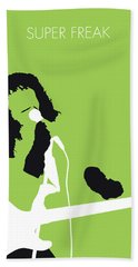 No166 My Rick James Minimal Music Poster Beach Towel