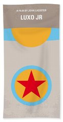 No171 My Luxo Jr Minimal Movie Poster Beach Towel