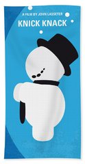 No172 My Knick Knack Minimal Movie Poster Beach Towel