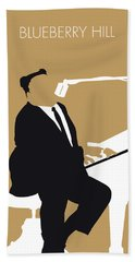 No190 My Fats Domino Minimal Music Poster Beach Towel
